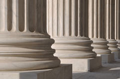 Pillars of Law and Justice. In Washington DC Royalty Free Stock Photos