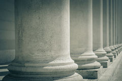 Pillars of Law and Justice Stock Photo