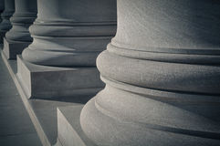 Pillars of Law and Order. Pillars and Columns symbolic of Law & Order Stock Image