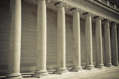 Pillars of Law and Order. Pillars of Law and Justice Royalty Free Stock Photography