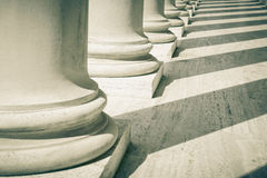 Pillars of Law and Order. Pillars of Law and Justice Stock Image