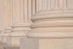 Pillars of Law of the Supreme Court Royalty Free Stock Image