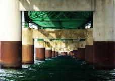 Pillars of the Mackinaw Bridge Royalty Free Stock Photos