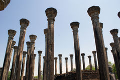 Pillars in Medirigiriya Stock Photo