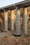 Pillars of a new highway bridge Royalty Free Stock Photo