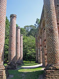 Pillars of Old Sheldon Church. Near Charleston, South Carolina Stock Photo