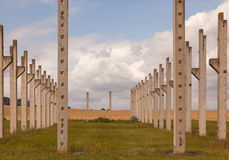 Pillars out of cement Royalty Free Stock Photography