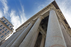 Pillars on the Pantheon building in Rome, Italy Stock Photos