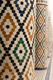 Pillars with patterns. Pillars with colorful mosaic patterns Royalty Free Stock Photos