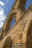 Pillars of the Pont du Gard in France Stock Photography