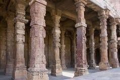 Pillars at Qutab Minar comple Royalty Free Stock Image