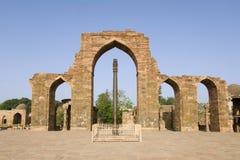 Pillars at Qutab Minar comple Stock Photo