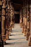 Pillars in Qutab minar, India Royalty Free Stock Photo
