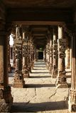 Pillars in qutub minar Royalty Free Stock Photography