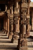 Pillars in Qutub Minar Complex,Delhi, India royalty free stock image