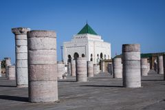 Pillars - Rabat. Ancient pillars in Rabat, Morocco Stock Photo