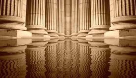 Pillars and Reflections Stock Images