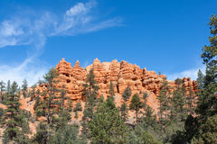 Pillars and Ridges at Red Canyon Royalty Free Stock Photography