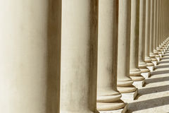 Pillars in a Row Stock Images