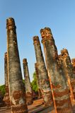 Pillars at the ruin. Ancient stone pillars at the ruins Thailand Stock Photography