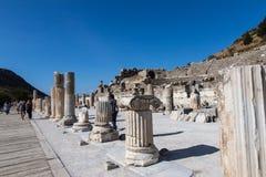 Pillars in ruins of Ephesos, Turkey Royalty Free Stock Photo