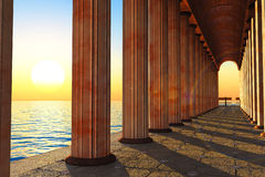 Pillars and sea Stock Photo