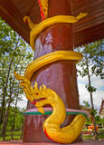 Pillars with serpent Royalty Free Stock Photography