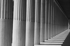 Pillars in the Shadows Royalty Free Stock Image