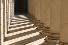 Pillars, Shadows and Light. In San Francisco, Palace of Fine Arts, California Stock Image