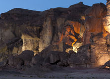 Pillars of Solomon. This shot was taken by night at the National geological and historical park Timna, Israel Stock Image