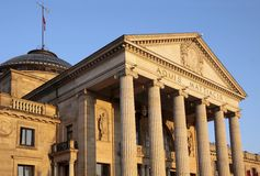 Pillars of  the Spa house of Wiesbaden Stock Image