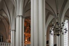 Pillars of St. Mary`s Church royalty free stock photo
