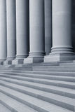 Pillars and stairs Stock Images