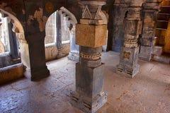 Pillars of the Step well balcony, Bara Motachi Vihir, Maharastra. India stock photos