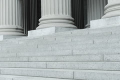 Pillars and Steps Royalty Free Stock Images
