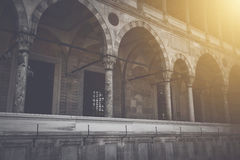 Pillars with Sunlight in Istanbul Turkey Royalty Free Stock Photos