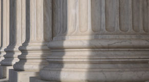 Pillars of the Supreme Court Stock Images