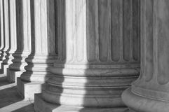 Pillars of the Supreme Court of the United States Stock Photos