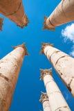 Pillars Temple of Artemis in Jerash Stock Images