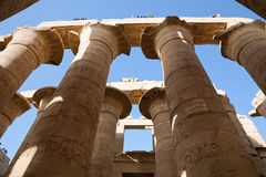 Pillars of the temple of Karnak. Royalty Free Stock Photography