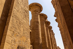Pillars Temple of Karnak Royalty Free Stock Photo