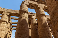 Pillars Temple of Karnak Stock Images
