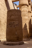 Pillars of the Temple of Karnak Stock Image
