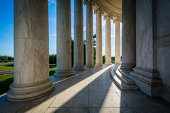Pillars of the Thomas Jefferson Memorial, in Washington, DC. stock images