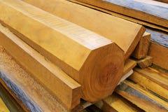 Pillars timber stack Stock Photos