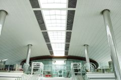 Pillars and top opening of Dubai Airport Royalty Free Stock Images