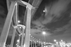 Pillars of viaduct Royalty Free Stock Images