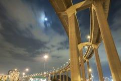 Pillars of viaduct Stock Image