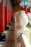 Pillars in a walkway. Pillars next to a walkway in a buddist temple Stock Images