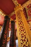 Pillars of Wat Mai in Luang Prabang, Laos Royalty Free Stock Photo